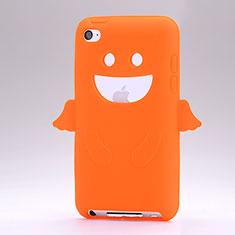 Silikon Schutzhülle Gummi Tasche Engel für Apple iPod Touch 4 Orange
