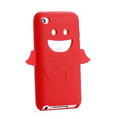 Silikon Schutzhülle Gummi Tasche Engel für Apple iPod Touch 4 Rot