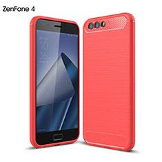 Silikon Schutzhülle Gummi Tasche für Asus Zenfone 4 ZE554KL Rot