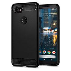Silikon Schutzhülle Gummi Tasche für Google Pixel 2 XL Schwarz