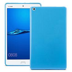 Silikon Schutzhülle Gummi Tasche für Huawei MediaPad M3 Blau