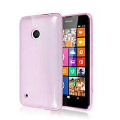 Silikon Schutzhülle Gummi Tasche für Nokia Lumia 530 Rosa