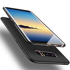 Silikon Schutzhülle Gummi Tasche für Samsung Galaxy Note 8 Duos N950F Schwarz