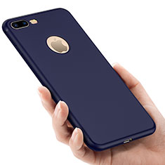 Silikon Schutzhülle Gummi Tasche Loch für Apple iPhone 8 Plus Blau
