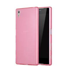 Silikon Schutzhülle Gummi Tasche Matt für Sony Xperia Z5 Rosa