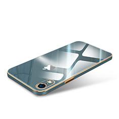 Silikon Schutzhülle Luxus Rahmen Tasche Hülle Durchsichtig Transparent Spiegel für Apple iPhone XR Nachtgrün