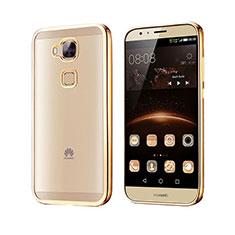 Silikon Schutzhülle Rahmen Tasche Durchsichtig Transparent Matt für Huawei G7 Plus Gold