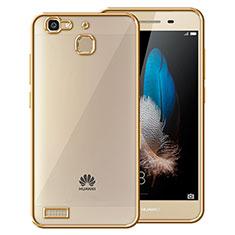 Silikon Schutzhülle Rahmen Tasche Durchsichtig Transparent Matt für Huawei G8 Mini Gold