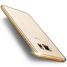Silikon Schutzhülle Rahmen Tasche Durchsichtig Transparent Matt für Samsung Galaxy Note 7 Gold