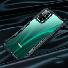 Silikon Schutzhülle Rahmen Tasche Durchsichtig Transparent Spiegel für Huawei Honor 30S Schwarz