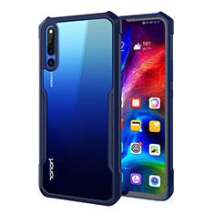 Silikon Schutzhülle Rahmen Tasche Hülle Durchsichtig Transparent Spiegel A01 für Huawei Honor Magic 2 Blau