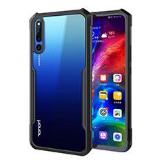 Silikon Schutzhülle Rahmen Tasche Hülle Durchsichtig Transparent Spiegel A01 für Huawei Honor Magic 2 Schwarz
