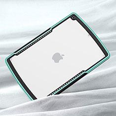 Silikon Schutzhülle Rahmen Tasche Hülle Durchsichtig Transparent Spiegel für Apple iPad 10.2 (2020) Grün