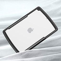 Silikon Schutzhülle Rahmen Tasche Hülle Durchsichtig Transparent Spiegel für Apple iPad 10.2 (2020) Schwarz