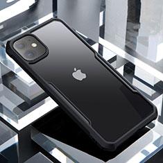 Silikon Schutzhülle Rahmen Tasche Hülle Durchsichtig Transparent Spiegel für Apple iPhone 11 Schwarz