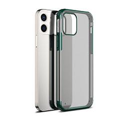 Silikon Schutzhülle Rahmen Tasche Hülle Durchsichtig Transparent Spiegel für Apple iPhone 12 Grün