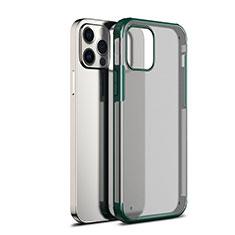 Silikon Schutzhülle Rahmen Tasche Hülle Durchsichtig Transparent Spiegel für Apple iPhone 12 Pro Grün