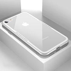 Silikon Schutzhülle Rahmen Tasche Hülle Durchsichtig Transparent Spiegel für Apple iPhone 7 Weiß