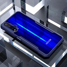 Silikon Schutzhülle Rahmen Tasche Hülle Durchsichtig Transparent Spiegel für Huawei Honor 20 Blau