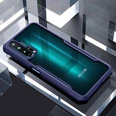 Silikon Schutzhülle Rahmen Tasche Hülle Durchsichtig Transparent Spiegel für Huawei Honor 20 Pro Blau