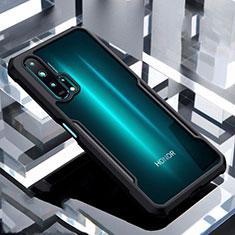 Silikon Schutzhülle Rahmen Tasche Hülle Durchsichtig Transparent Spiegel für Huawei Honor 20 Pro Schwarz