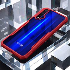 Silikon Schutzhülle Rahmen Tasche Hülle Durchsichtig Transparent Spiegel für Huawei Honor 20 Rot