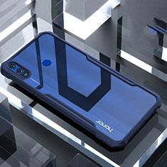 Silikon Schutzhülle Rahmen Tasche Hülle Durchsichtig Transparent Spiegel für Huawei Honor 8X Blau