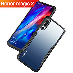 Silikon Schutzhülle Rahmen Tasche Hülle Durchsichtig Transparent Spiegel für Huawei Honor Magic 2 Schwarz