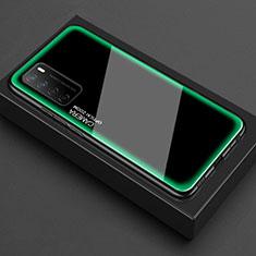 Silikon Schutzhülle Rahmen Tasche Hülle Durchsichtig Transparent Spiegel für Huawei Honor Play4 5G Grün