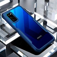 Silikon Schutzhülle Rahmen Tasche Hülle Durchsichtig Transparent Spiegel für Huawei Honor View 30 5G Blau