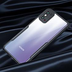 Silikon Schutzhülle Rahmen Tasche Hülle Durchsichtig Transparent Spiegel für Huawei Honor X10 Max 5G Schwarz