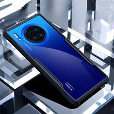 Silikon Schutzhülle Rahmen Tasche Hülle Durchsichtig Transparent Spiegel für Huawei Mate 30 Pro 5G Schwarz