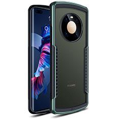 Silikon Schutzhülle Rahmen Tasche Hülle Durchsichtig Transparent Spiegel für Huawei Mate 40 Pro Grün