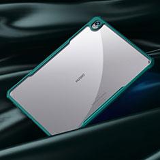Silikon Schutzhülle Rahmen Tasche Hülle Durchsichtig Transparent Spiegel für Huawei MatePad 10.8 Cyan