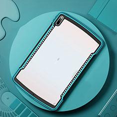 Silikon Schutzhülle Rahmen Tasche Hülle Durchsichtig Transparent Spiegel für Huawei MatePad Pro 5G 10.8 Cyan