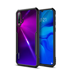 Silikon Schutzhülle Rahmen Tasche Hülle Durchsichtig Transparent Spiegel für Huawei Nova 5 Schwarz