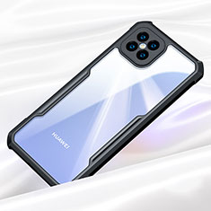 Silikon Schutzhülle Rahmen Tasche Hülle Durchsichtig Transparent Spiegel für Huawei Nova 8 SE 5G Schwarz
