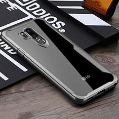 Silikon Schutzhülle Rahmen Tasche Hülle Durchsichtig Transparent Spiegel für LG G7 Grau