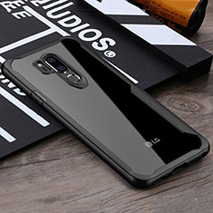 Silikon Schutzhülle Rahmen Tasche Hülle Durchsichtig Transparent Spiegel für LG G7 Schwarz