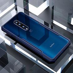 Silikon Schutzhülle Rahmen Tasche Hülle Durchsichtig Transparent Spiegel für OnePlus 7 Pro Blau