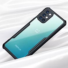 Silikon Schutzhülle Rahmen Tasche Hülle Durchsichtig Transparent Spiegel für OnePlus 8T 5G Schwarz
