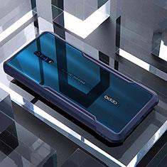 Silikon Schutzhülle Rahmen Tasche Hülle Durchsichtig Transparent Spiegel für Oppo Reno Blau