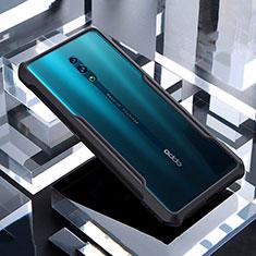 Silikon Schutzhülle Rahmen Tasche Hülle Durchsichtig Transparent Spiegel für Oppo Reno Schwarz