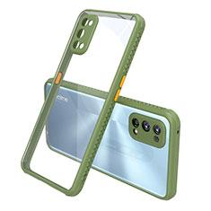 Silikon Schutzhülle Rahmen Tasche Hülle Durchsichtig Transparent Spiegel für Realme 7 Pro Grün