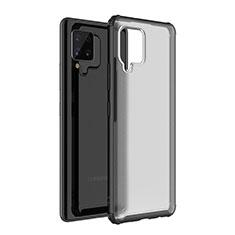 Silikon Schutzhülle Rahmen Tasche Hülle Durchsichtig Transparent Spiegel für Samsung Galaxy A42 5G Schwarz