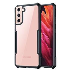 Silikon Schutzhülle Rahmen Tasche Hülle Durchsichtig Transparent Spiegel für Samsung Galaxy S21 Plus 5G Schwarz