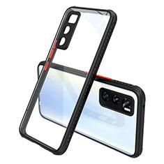 Silikon Schutzhülle Rahmen Tasche Hülle Durchsichtig Transparent Spiegel für Vivo Y70 (2020) Schwarz