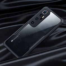 Silikon Schutzhülle Rahmen Tasche Hülle Durchsichtig Transparent Spiegel für Xiaomi Mi 10 Ultra Schwarz