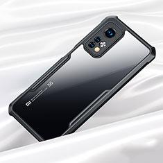 Silikon Schutzhülle Rahmen Tasche Hülle Durchsichtig Transparent Spiegel für Xiaomi Mi 10T Pro 5G Schwarz