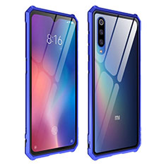 Silikon Schutzhülle Rahmen Tasche Hülle Durchsichtig Transparent Spiegel für Xiaomi Mi 9 Blau